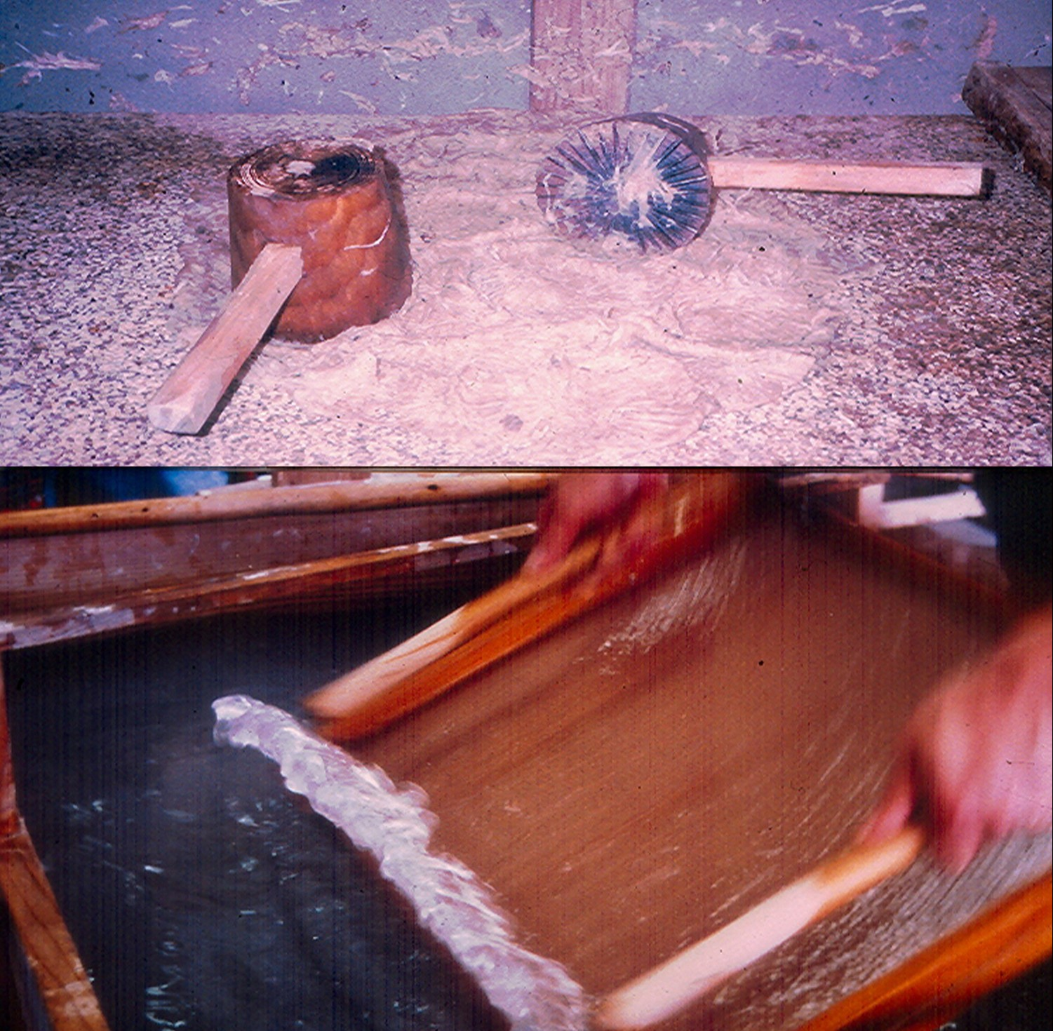 Japanese papermaking demo